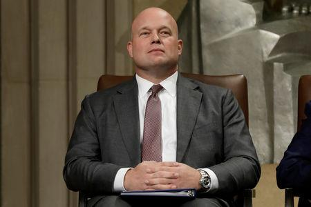 FILE PHOTO: Acting Attorney General Matthew Whitaker attends the Annual Veterans Appreciation Day Ceremony at the Justice Department in Washington