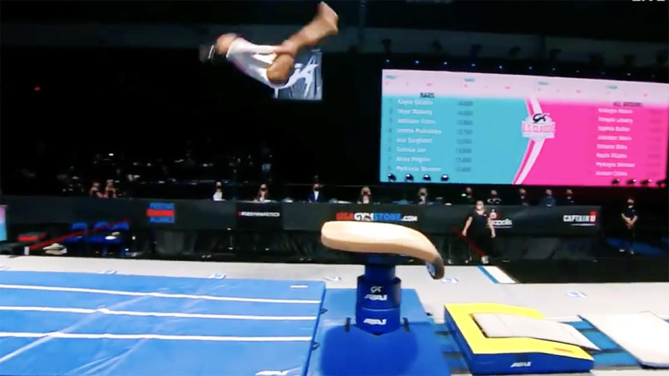 Simone Biles, pictured here at the US Gymnastics Classic.