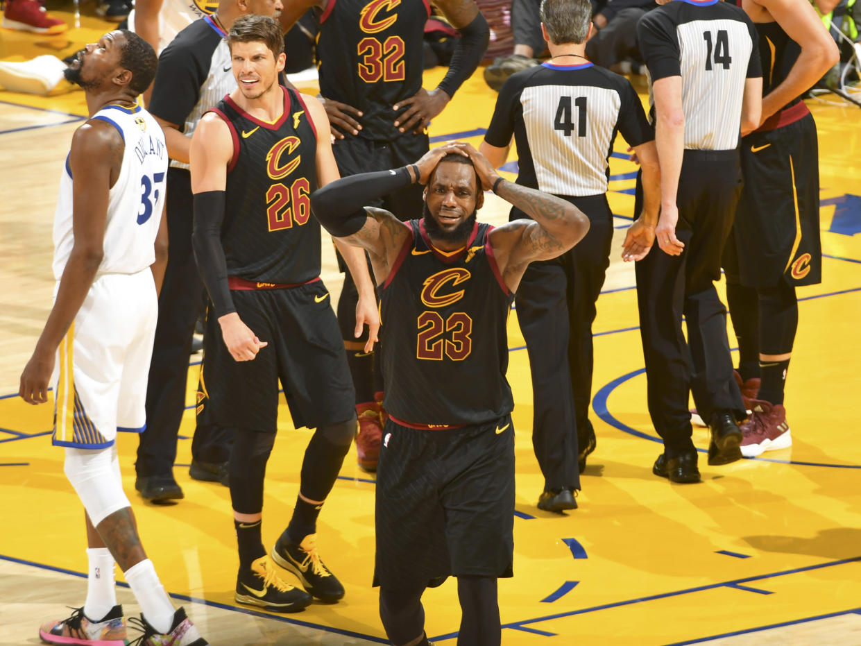 It was that kind of night for LeBron James and the Cavs in Game 1. (Getty Images)
