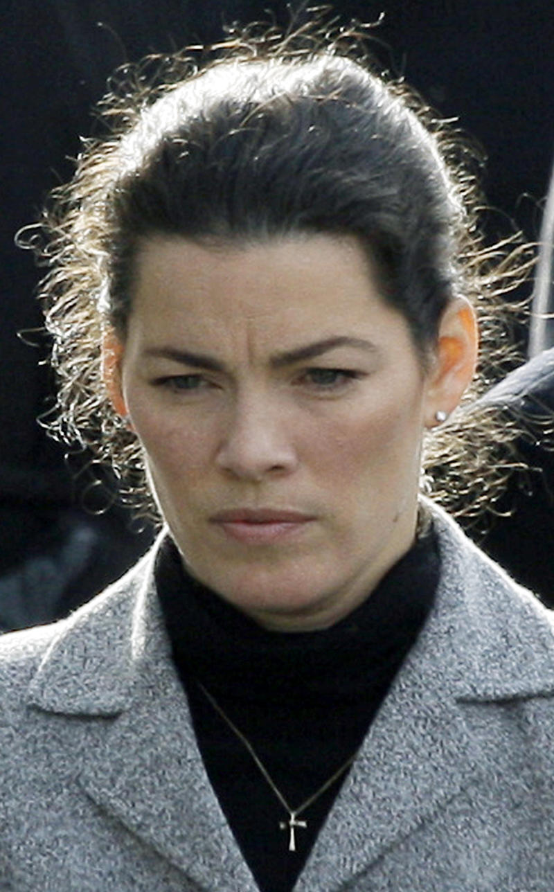 FILE - In this Jan. 28, 2010 file photo, Olympic figure skater Nancy Kerrigan arrives at St. Patrick Church in Stoneham, Mass., for the funeral for her father Daniel Kerrigan, 70, who died after what authorities say was a violent struggle with his son Mark Kerrigan. During a pretrial hearing Tuesday, May 10, 2011, Assistant District Attorney Elizabeth Keeley revealed that prosecutors want the famous skater to testify about her father's health before he died. Jury selection is scheduled to begin for Mark Kerrigan's trial in Woburn Superior Court Friday, May 13, 2011.  (AP Photo/Elise Amendola, File)