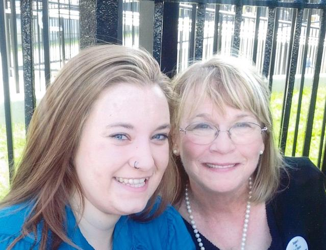 Dee Ann Newell(right), pictured with an adultchild of an incarcerated parent, founded Arkansas Voices for the Children Left Behind overtwo decades ago.