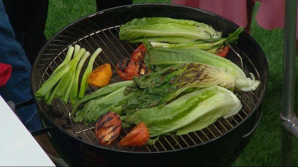PHOTO: Lettuce and veggies on the grill make a delicious charred salad. (ABC News)