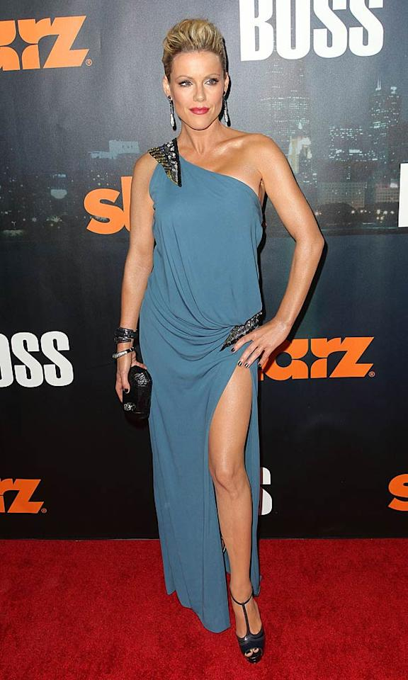 "Anyone remember Kathleen Robertson? She played Clare on the original ""90210"" in the '90s. Anyway, she's returning to TV later this month in Kelsey Grammer's new show, ""Boss."" Late last week, she turned heads at the premiere of the program in a regal, Grecian-inspired gown that left little to the imagination.  Frederick M. Brown/GettyImages.com - October 6, 2011"