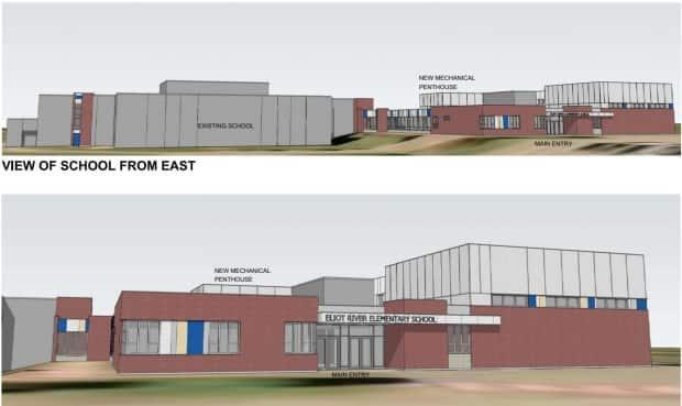 The school will get a new addition, but also interior renovations, redevelopment of the site and upgrades to the exterior of the building. (Coles Associates - image credit)