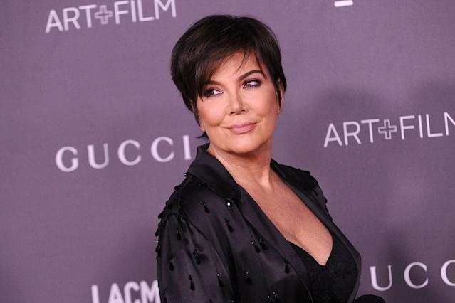 Wealthy Kris Jenner attends a fancy fete on Nov. 4, 2017, in Los Angeles. (Photo: Jason LaVeris/FilmMagic)