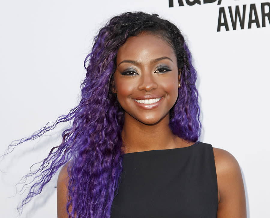 <p>Skye is queen of the purple hair parade. It's a great color on her and has become her signature. (Photo: Getty Images) </p>