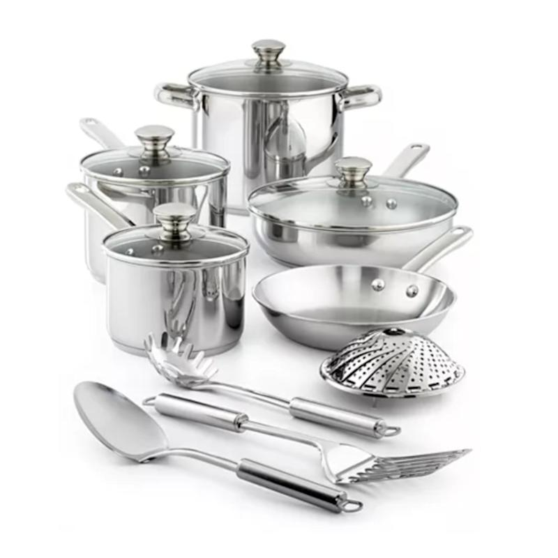 Tools of the Trade Stainless Steel 13-Pc. Cookware Set. (Photo: Macy's)