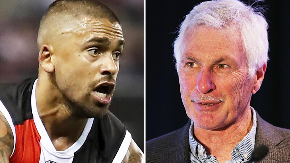 Bradley Hill has come under pressure after a patchy start to his second season with St Kilda, prompting former premiership coach Mick Malthouse to suggest he be dropped from the side. Pictures: Getty Images