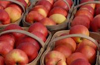 <p>Ambrosia apples were discovered in British Columbia, Canada, in the early 1990s. These low-acidity apples have a sweet, honey-like flavor, a pleasing floral aroma and plenty of juice.</p>