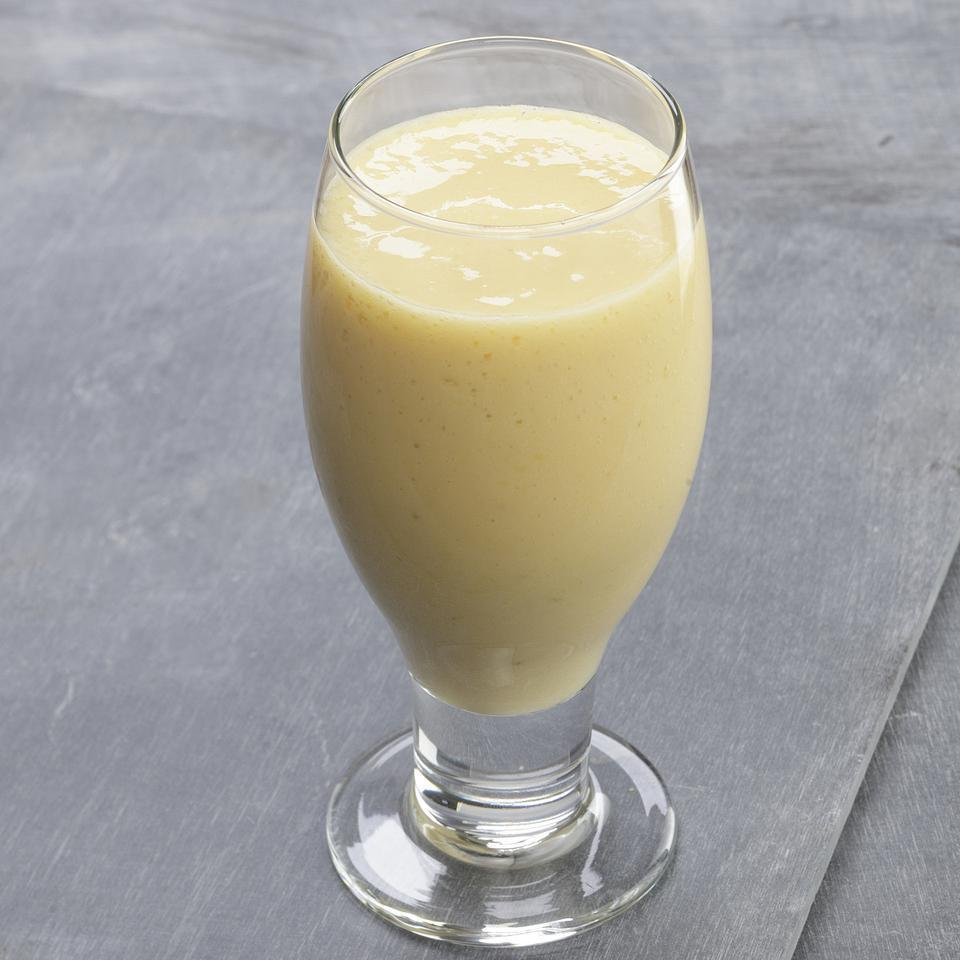 "<p>Mango, pineapple and lime flavor this tropical smoothie. Silken tofu adds staying power. <a href=""http://www.eatingwell.com/recipe/250397/tofu-tropic-smoothie/"" rel=""nofollow noopener"" target=""_blank"" data-ylk=""slk:View recipe"" class=""link rapid-noclick-resp""> View recipe </a></p>"