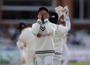 <p>Cricket - Second Test - England v India - Lord's Cricket Ground, London, Britain - August 16, 2021 India's Virat Kohli reacts Action Images via Reuters/Paul Childs</p>