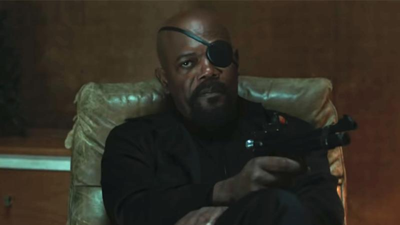 Samuel L Jackson as Nick Fury in 'Spider-Man: Far From Home' (credit: Marvel)