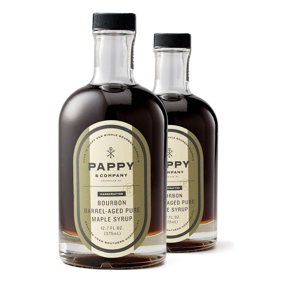 """<p><strong>Pappy & Company</strong></p><p>huckberry.com</p><p><strong>$38.00</strong></p><p><a href=""""https://go.redirectingat.com?id=74968X1596630&url=https%3A%2F%2Fhuckberry.com%2Fstore%2Fpappy-and-company%2Fcategory%2Fp%2F37475-barrel-aged-maple-syrup&sref=https%3A%2F%2Fwww.esquire.com%2Ffood-drink%2Fdrinks%2Fg3047%2Fgifts-for-the-modern-whisky-drinker%2F"""" rel=""""nofollow noopener"""" target=""""_blank"""" data-ylk=""""slk:Buy"""" class=""""link rapid-noclick-resp"""">Buy</a></p><p>The barrels that hold Pappy's legendary bourbon later house maple syrup collected from a farm in Ohio, giving us all the gift of bourbon barrel-aged maple syrup. Besides, it's not like getting them a bottle of Pappy Van Winkle bourbon is feasible.</p>"""
