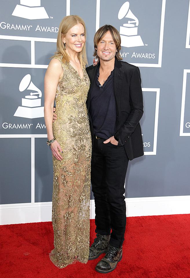 LOS ANGELES, CA - FEBRUARY 10:  Actress Nicole Kidman (L) and Singer Keith Urban attend the 55th Annual GRAMMY Awards at STAPLES Center on February 10, 2013 in Los Angeles, California.  (Photo by Jeff Vespa/WireImage)