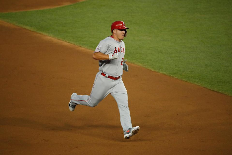 MLB commissioner Rob Manfred said that Los Angeles Angels star Mike Trout would be a bigger star if he marketed himself better. (Getty Images)