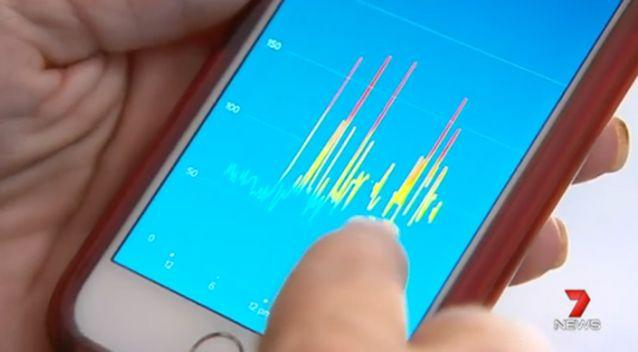 The Fitbit showed Mick's heartbeat to be very irregular. Photo: 7 News