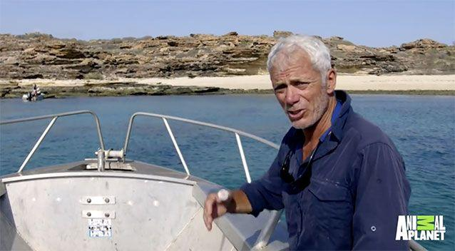 Presenter Jeremey Wade was clearly shocked as he spoke to the camera about the unfolding rescue mission. Photo:Animal Planet/ River Monsters