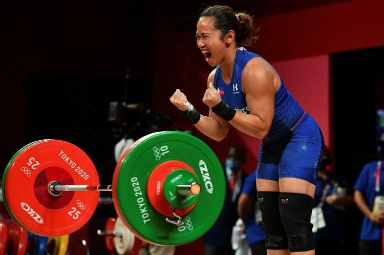 I've done it: Philippines' Hidilyn Diaz wins her country's first ever gold medal