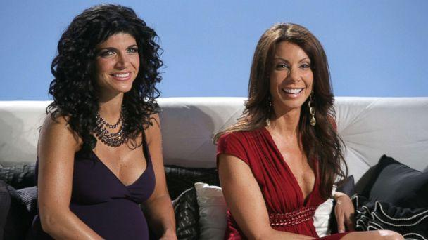 PHOTO: Teresa Giudice, left, and Danielle Staub are pictured in 'Reunion' Episode 108 & 109 of 'The Real Housewives of New Jersey.' (Virginia Sherwood/NBC/NBCU Photo Bank via Getty Images)