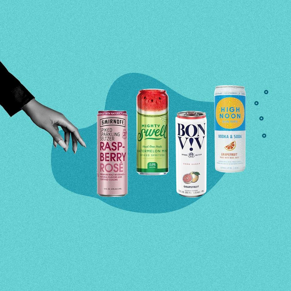 """<p>Where were you the first time you tried hard seltzer? The alcoholic drink's popularity is relatively recent, and undeniably linked to the <a href=""""https://www.delish.com/food/g4340/seltzer-sparkling-water-summer-flavors/"""" rel=""""nofollow noopener"""" target=""""_blank"""" data-ylk=""""slk:bubbly beverage craze"""" class=""""link rapid-noclick-resp"""">bubbly beverage craze</a> that's taken over in the last couple years. If you think it's been blown out of proportion, have a sip and get back to use: You'll admit the refreshing, carbonated drink is the best way to cool down on a hot summer's day or to sip any time of year, really. Whether you're lounging poolside or sitting by the campfire or cuddled inside by the fire place, here are the best hard seltzers to have on hand.</p><p>Looking to mix up your own cocktails at home? Order Delish's Cocktail Cookbook <a href=""""https://www.amazon.com/Delish-Ultimate-Cocktails-Limit-Happy/dp/1950785157/"""" rel=""""nofollow noopener"""" target=""""_blank"""" data-ylk=""""slk:here"""" class=""""link rapid-noclick-resp"""">here</a>. </p>"""