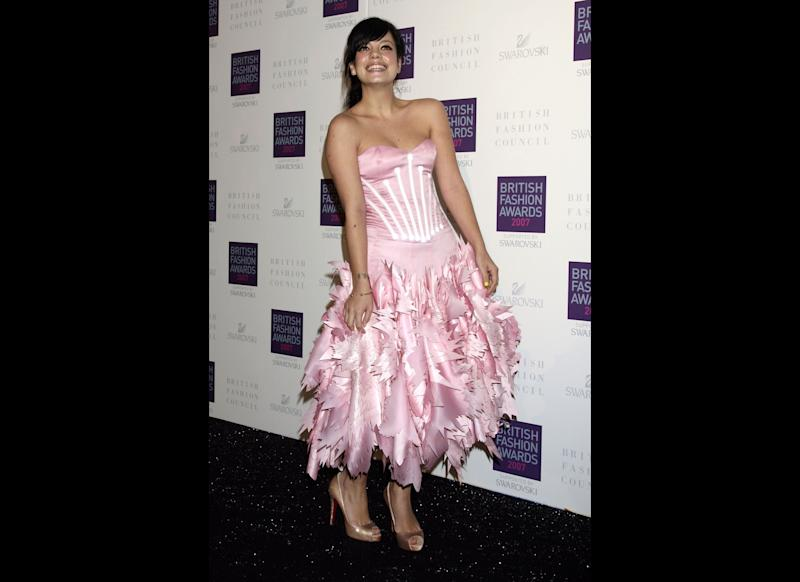 <strong>2007</strong> Lily Allen arriving for the British Fashion Awards