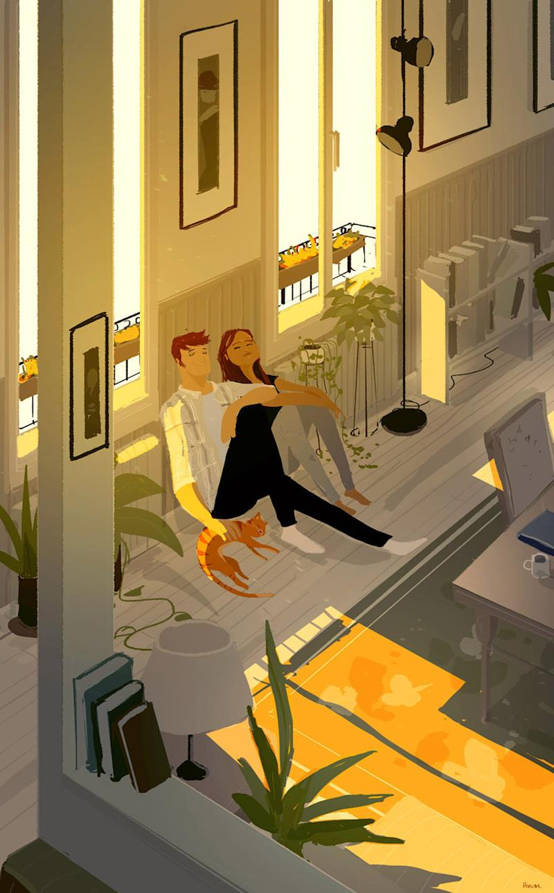 The couple married in San Francisco in May 2007.  (Pascal Campion Art)