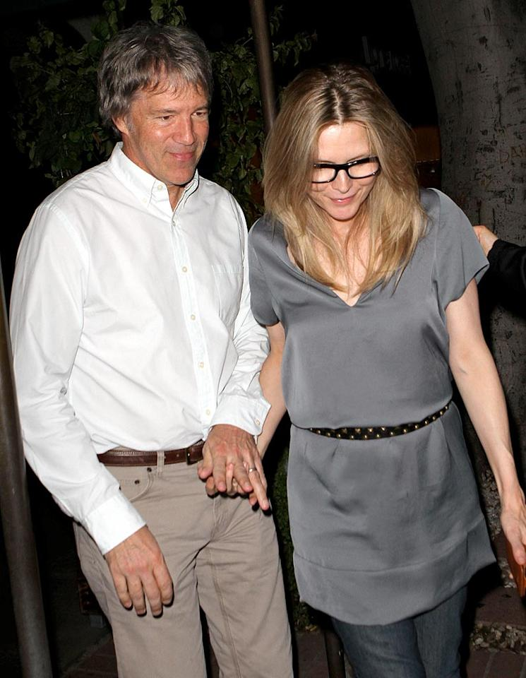 """Also spotted: """"Hairspray's"""" Michelle Pfeiffer and her producer hubby, David E. Kelley, making it a date night. AL/<a href=""""http://www.x17online.com"""" target=""""new"""">X17 Online</a> - November 2, 2010"""