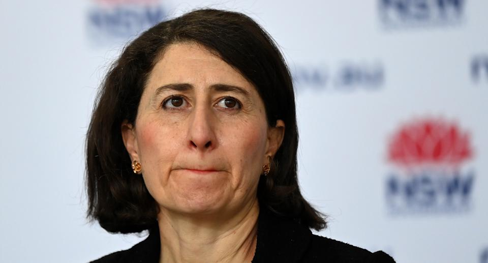 NSW Premier Gladys Berejiklian speaks to the media during a press conference to provide a COVID-19 update, in Sydney, Wednesday, August 18, 2021. Source: AAP