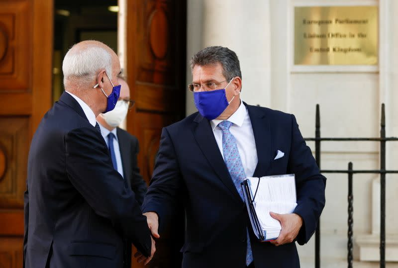 European Commission Vice-President Maros Sefcovic leaves Europe House in London