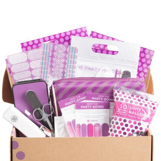 "<p>Not all of us have a steady hand for nail polish — luckily, Jamberry nail wraps, which become adhesive with heat, are foolproof and perfect for a Girls' Night In. This party kit includes a mini-heater for safe applications. <b><a href=""https://www.jamberry.com/us/en/shop/products/celebration-box#.VkzXG9-rQXo"" rel=""nofollow noopener"" target=""_blank"" data-ylk=""slk:Jamberry CelebrationBox"" class=""link rapid-noclick-resp"">Jamberry CelebrationBox</a> ($100)</b><br></p>"