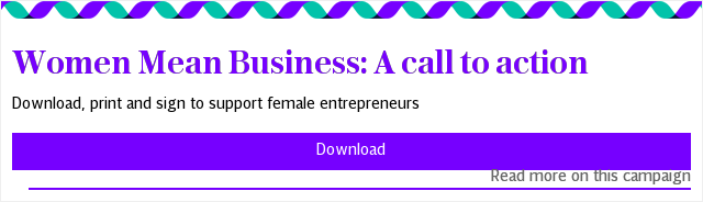 Women Mean Business: A call to action