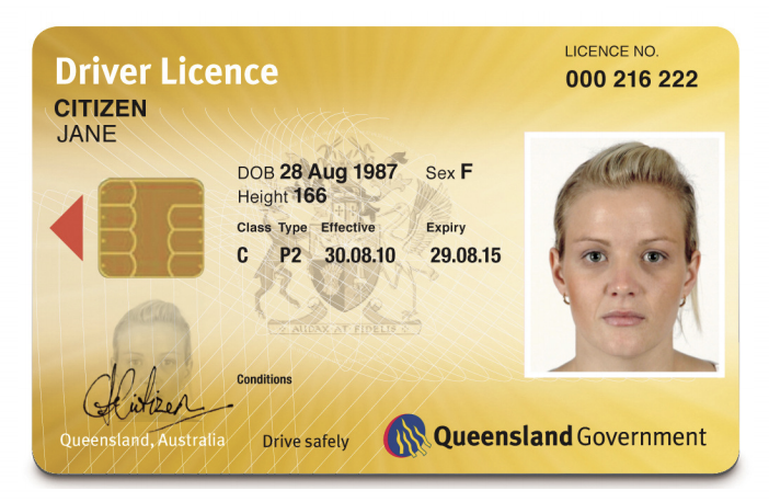 A Queensland Driver's Licence is pictured.