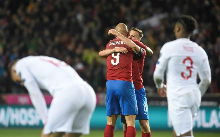 England lost a qualifying match for the first time in 10 years against the Czech Republic on Friday (AFP Photo/Michal CIZEK)
