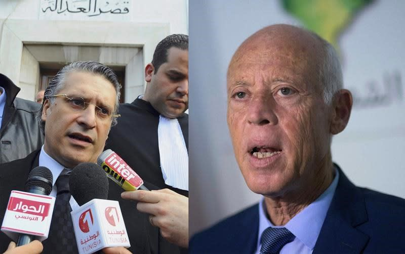 Jailed tycoon and professor in Tunisia's presidential runoff