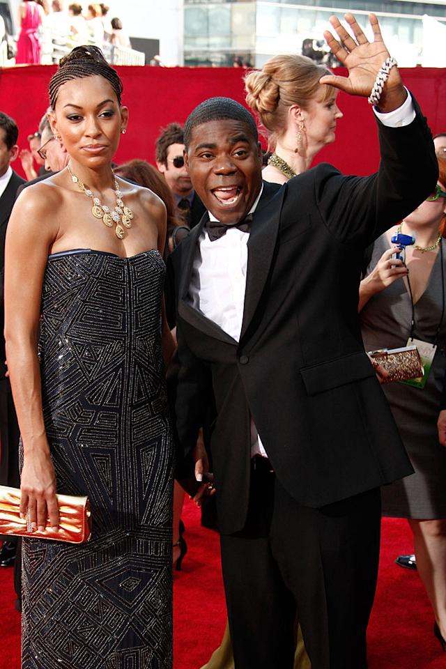 """Tracy Morgan ('30 Rock"""") and wife Sabina Morgan arrives at the 61st Primetime Emmy Awards held at the Nokia Theatre on September 20, 2009, in Los Angeles."""