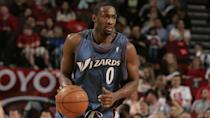 """<p>Just three players on this list wound up making more than a million dollars for each game they actually appeared in, and Gilbert Arenas was one of them.</p> <p>Arenas was, of course, a big star and deservedly so when he resigned with the Washington Wizards prior to the 2008 season. From 2005 to 2007, he averaged over 25 points and five assists a game, and who could have thought he would have fallen so far? But wow, did Arenas fall.</p> <p>While it's important not to forget that injuries played a big role in him failing to produce, so did bringing a gun into the locker room to threaten a teammate over a gambling debt. This event is what most people seem to remember most. He wound up appearing in just 121 games of the 470 represented by the six-year, $111 million contract he signed.</p> <p><em><strong>Read: <a href=""""https://www.gobankingrates.com/net-worth/sports/biggest-sports-contracts-ever/?utm_campaign=1053693&utm_source=yahoo.com&utm_content=28"""" rel=""""nofollow noopener"""" target=""""_blank"""" data-ylk=""""slk:53 Biggest Sports Contracts Ever"""" class=""""link rapid-noclick-resp"""">53 Biggest Sports Contracts Ever</a></strong></em></p> <p><small>Image Credits: Sporting News Archive / Getty Images</small></p>"""