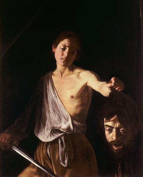 Caravaggio photobombed this painting