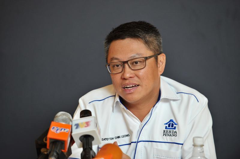 Penang Rehda chairman Datuk Toh Chin Leong said housing prices in Penang will be 10 per cent cheaper due to SST exemption on some construction materials. — Picture by KE Ooi