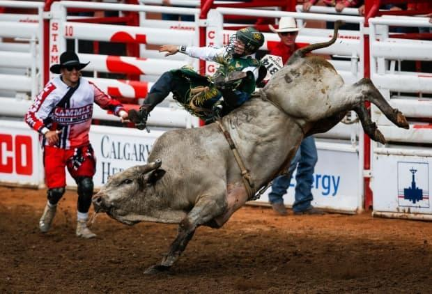 The Calgary Stampede says all rodeo participants will face a variety of restrictions, including not mixing with the general public.  (Jeff Mcintosh/The Canadian Press - image credit)