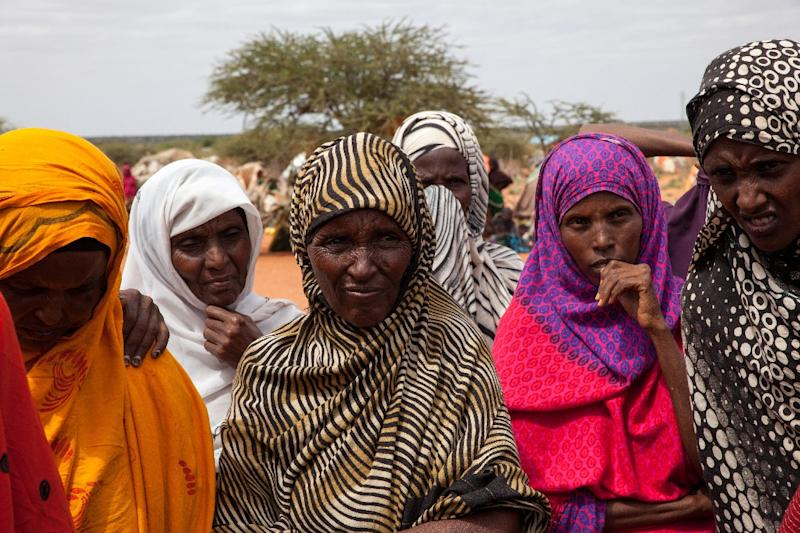 The World Bank announced that if world governments do not intervene, the warming climate will result in a spike in refugee populations, displacing millions like these woman who were displaced by Ethiopia's drought in June 2017