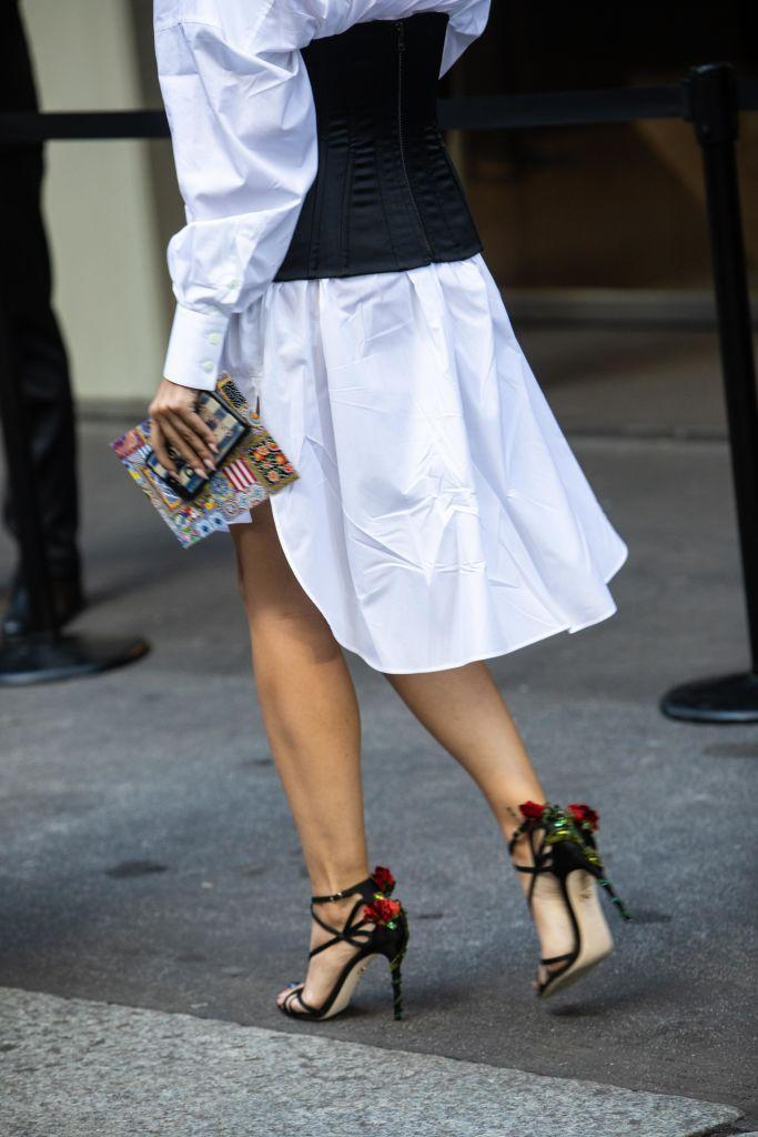 <p>Look good coming and going with eye-catching heels. From unusual shapes to fantastical logos, there is no shortage of interpretations of this style. </p>