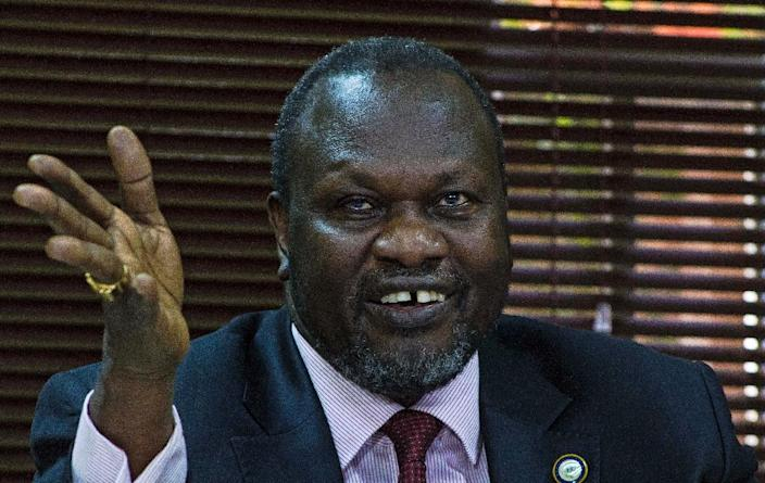 South Sudan's rebel leader Riek Machar was vice-president from 2005 until he was sacked in 2013 (AFP Photo/Isaac Kasamani)