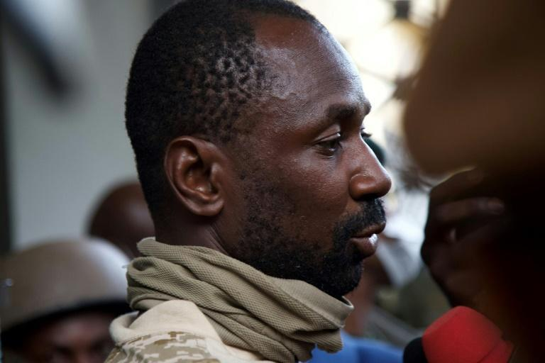 Goita, seen speaking to the press on August 19 last year after leading the coup that forced out the country's elected president, Ibrahim Boubacar Keita