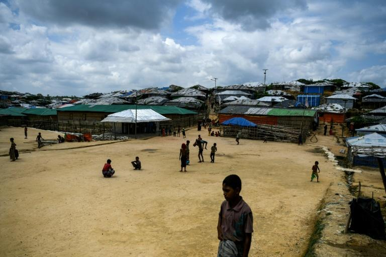 File photo shows  Rohingya refugee children playing in Kutupalong camp in Bangladesh