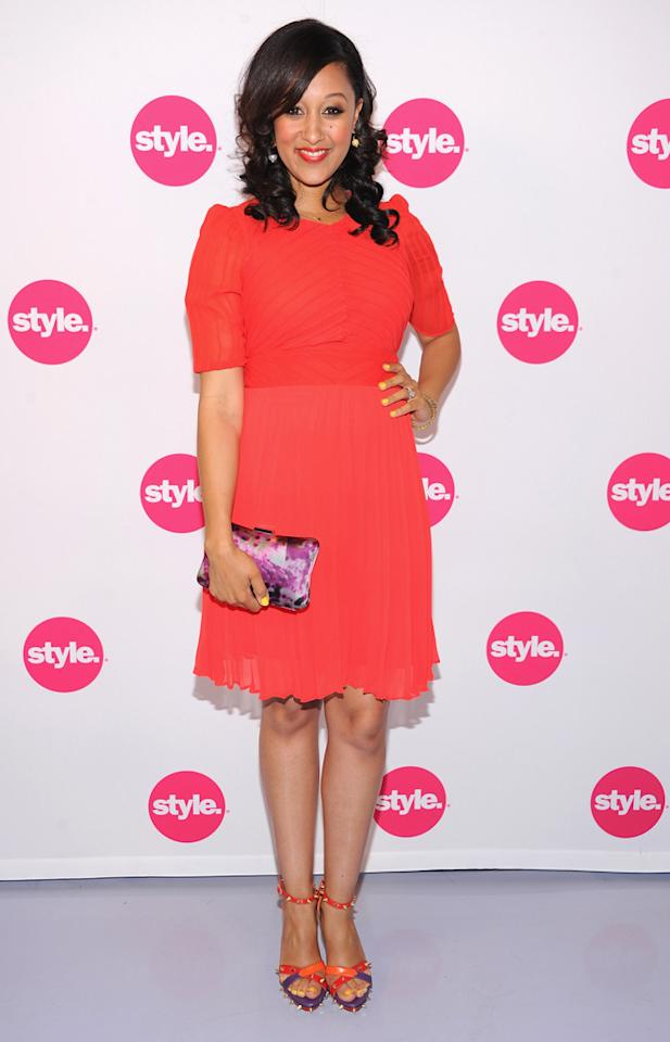 "Tamera Mowry Housley (""T<a href=""http://tv.yahoo.com/tia-tamera-take-2/show/46068"">ia & Tamera</a>"") attends Style Network's Upfront Presentation at DVF Studio on April 18, 2012 in New York  City."