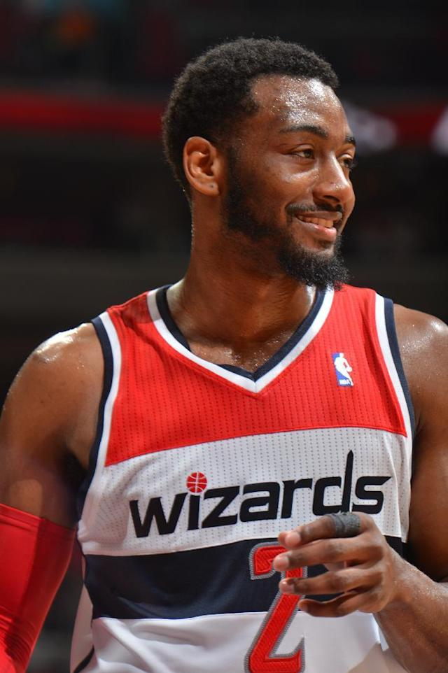 WASHINGTON, DC - MAY 15: John Wall #2 of the Washington Wizards during the game against the Indiana Pacers in Game Six of the Eastern Conference Semifinals during the 2014 NBA Playoffs on May 15, 2014 at the Verizon Center in Washington, DC. (Photo by Jesse D. Garrabrant/NBAE via Getty Images)