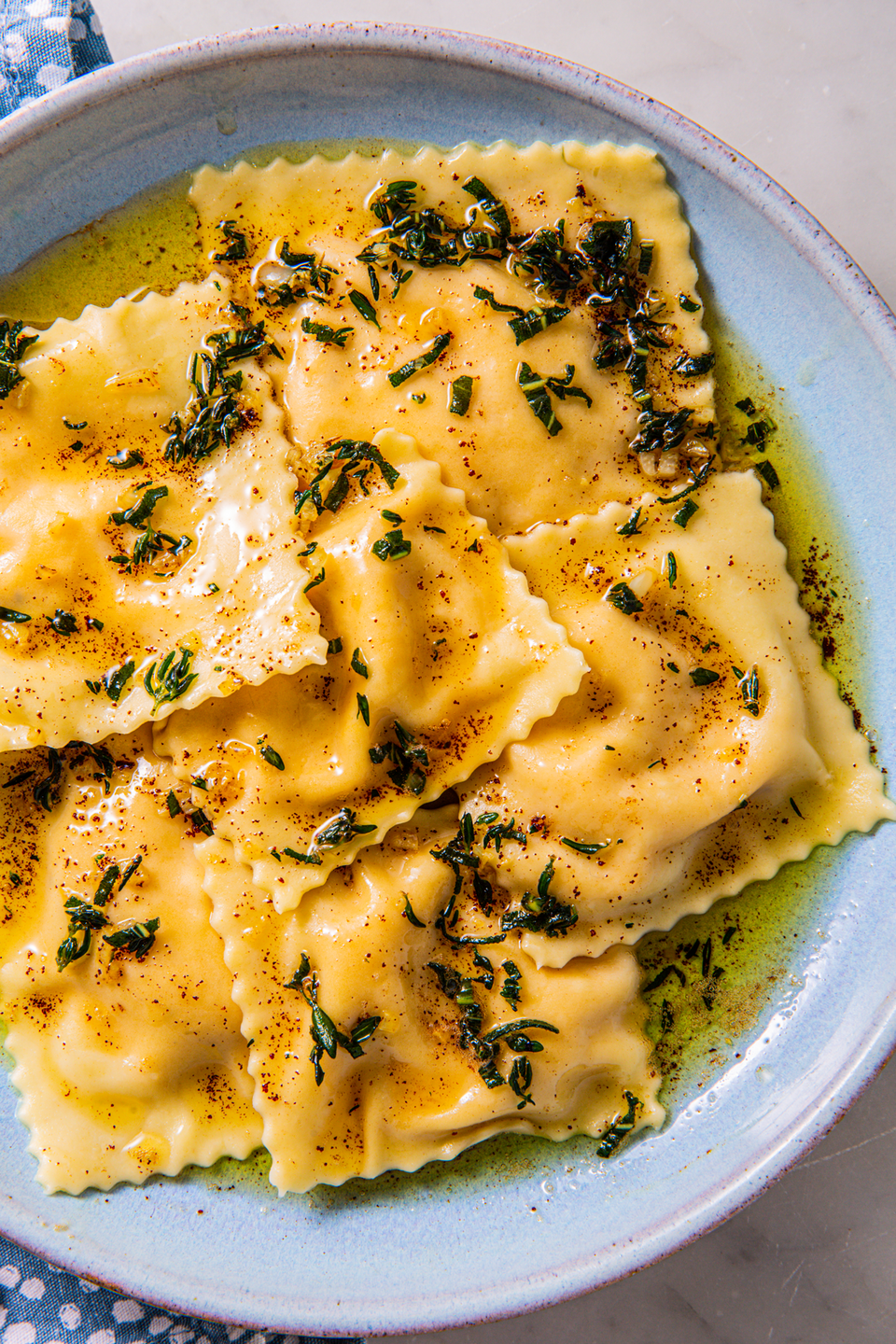 """<p>Making your own ravioli seems hard but is SO worth it.</p><p>Get the recipe from <a href=""""https://www.delish.com/cooking/recipe-ideas/recipes/a3963/butternut-squash-ravioli-recipe/"""" rel=""""nofollow noopener"""" target=""""_blank"""" data-ylk=""""slk:Delish"""" class=""""link rapid-noclick-resp"""">Delish</a>.</p>"""