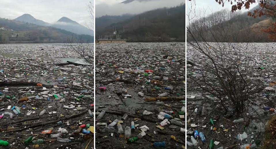 Thousands of cubic metres of waste accumulating in southwest Serbia in at the Potpecko accumulation lake