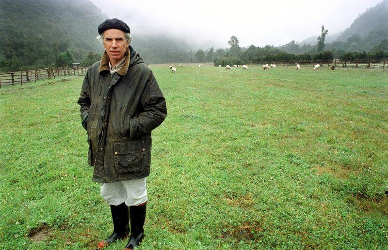 File photo of U.S. millionaire conservationist Douglas Tompkins on his land in Chile