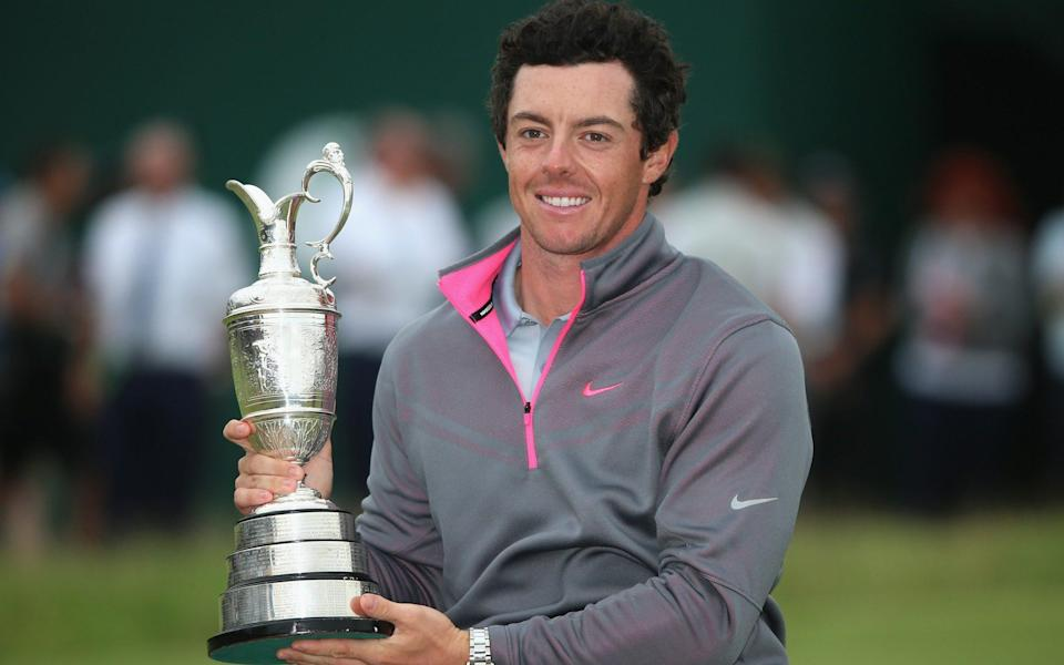 Rory McIlroy of Northern Ireland holds the Claret Jug after his two-stroke victory at The 143rd Open Championship - Getty Images